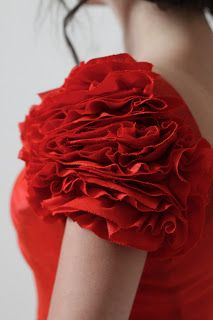 Rose ruffle sleeves tutorial