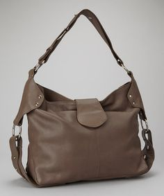 Take a look at this Charcoal Latch Hobo by Iris Tyler on #zulily today!