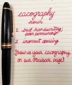 Handwritten Post - Cacography
