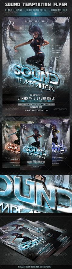 Sound Temptation Flyer  #GraphicRiver        Layered PSD File 300 DPI CMYK Color Bleeds Included Ready to Print High Quality Details Used font:  .fontsquirrel /fonts/nexa  .dafont /bignoodle-titling.font  .dafont /devil-breeze.font Used photo: photodune /item/the-dancer/3479218 NOTE: The Model Photo is NOT included in Download File Enjoy and Please Rate this File     Created: 25October13 GraphicsFilesIncluded: PhotoshopPSD Layered: Yes MinimumAdobeCSVersion: CS5 PrintDimensions: 4x6 Tags…