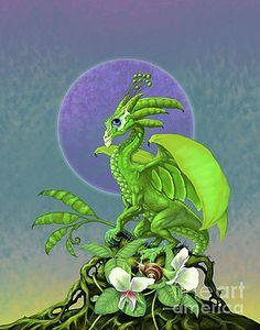 Pea Pod Dragon by Stanley Morrison