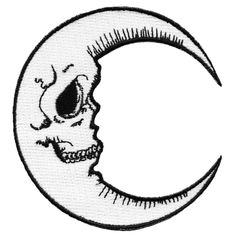 Killstar Occult Gothic Goth Luna Iron On Patch White Crescent Moon Grunge … Pin And Patches, Iron On Patches, Jacket Patches, Desenhos Halloween, Les Aliens, Tattoo Motive, Tattoo Symbols, Future Tattoos, Skull Art