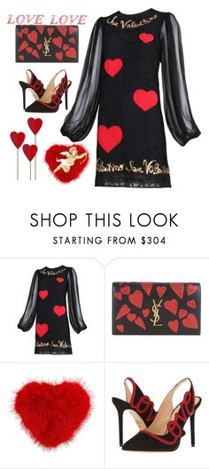 """Stupid Cupid ❤️"" by ellenfischerbeauty ❤ liked on Polyvore featuring Dolce&Gabbana, Yves Saint Laurent, Anya Hindmarch, Charlotte Olympia and WALL"