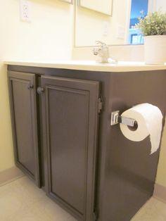 Bathroom Storage Diy Shelves Budget Ideas For 2019 Bathroom Wall Storage, Painting Bathroom Cabinets, White Bathroom Cabinets, Bathroom Paint Colors, Bathroom Flooring, Bathroom Ideas, Bathroom Modern, Kitchen Storage, Small Bathroom