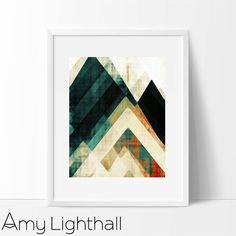 modern mid century, art for the home, geometric decor, geometric art, modern painting, abstract painting, giclee fine art print, fine art, Amy Lighthall