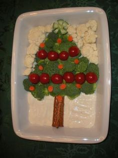 Vegetable Christmas Tree Appetizer