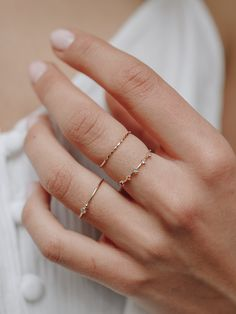 Add some colour to your ring stacks with our rainbow gemstone ring. A delicate gold ring you can wear everyday.