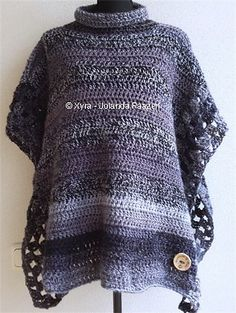 Ravelry: PATR0972 - straight poncho with col pattern by Jolanda Faazen