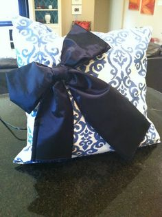 Pillow with a bow!