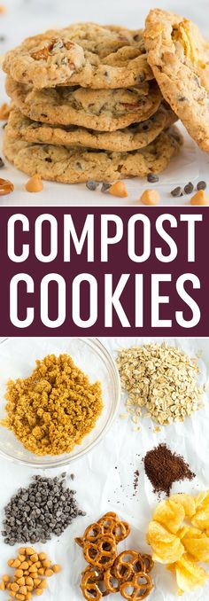 COMPOST COOKIES! These famous Compost Cookies from Momofuku Milk Bar are loaded with everything but the kitchen sink... perfect for those who love the sweet and salty combo! via @browneyedbaker