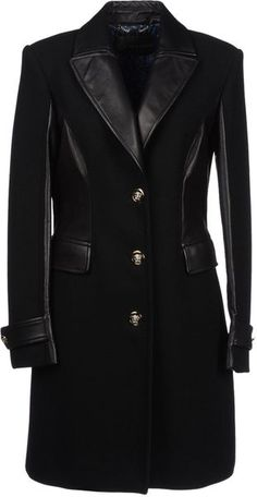 this is gorgeous. love the dual textures. Coat - Lyst