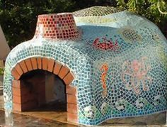 Mosaic clay oven