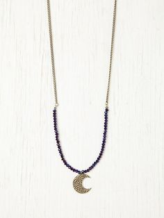 Free People Druzy Moon Pendant at Free People Clothing Boutique