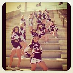Love this pic of my daughters cheerleading squad