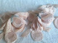 Vintage Lace Appliqués Floral Pink Insets 4pc Vintage Wedding Furnishings Decor