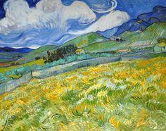 Champ de blé sur fond de montagnes - Vincent VAN GOGH - juin 1889