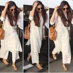 Deepika Padukone, Ranveer Singh, Jacqueline Fernandez: Best and Worst Airport looks of the week - Designer Dresses Couture Celebrity Airport Style, Celebrity Outfits, Ethnic Outfits, Indian Outfits, Indian Clothes, Fall Fashion Outfits, Women's Fashion Dresses, Deepika Padukone Style, Airport Look