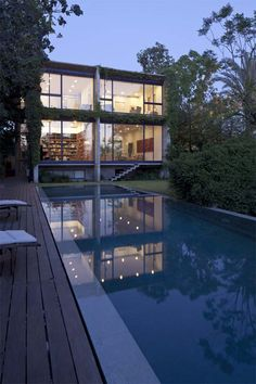 Concrete and glass house by GSArch