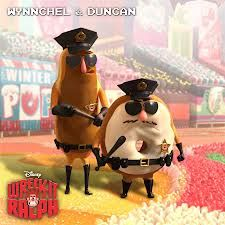 Wynnchel and Duncan- The policemen of sugar rush, themed after donuts. Both names refer to companies that make donuts.(Dunkin Donuts, ect.)