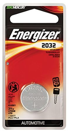 ENERGIZER ECR2032BP Non-rechargeable Battery, Lithium Manganese Dioxide, 240 mAh, 3 V, 2032, Pressure Contact //Price: $0.35 & FREE Shipping //     #hashtag3