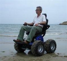 The Viking 4 X 4 All Terrain Power Wheelchair is great for experiencing the beach with no limits. Dry sand or wet sand the Viking 4 X 4 power wheelchair is at home and overcomes the normal obstacle the sand causes for any average power wheelchair.