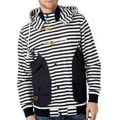 Under 2 Flags Striped Button Up Hoody $188