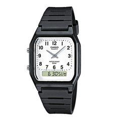 Casio Unisex Chronograph Watch Rubber Strap White Dial for sale online Casio Classic, Mens Watches Uk, Sport Watches, Wrist Watches, G Shock, Stainless Steel Watch, Black Rubber, Casio Watch, Quartz Watch