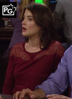 Robins burgundy lace top on How I Met Your Mother Robin Scherbatsky, Red Lace Top, Fall Outfits, Fashion Outfits, Cobie Smulders, How I Met Your Mother, Chiffon Ruffle, I Meet You, Cotton Dresses