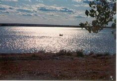 Cedar Bluff Reservoir located in Trego County Kansas, provides recreation, managed by the Dept. of Wildlife and Parks.