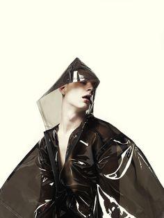 Smoke rain coat