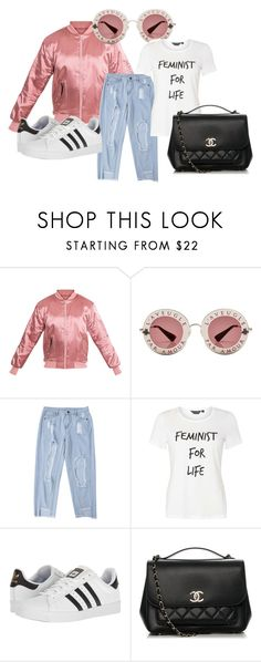 """""""mannequinxo x feminist 4 life .. zendaya"""" by xxxthebombshellfactoryxxx ❤ liked on Polyvore featuring Gucci, Dorothy Perkins, adidas and Chanel"""
