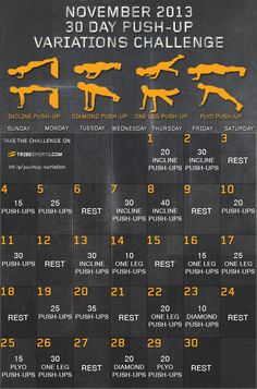 Add this Challenge to your regular training to expand your push-up portfolio.