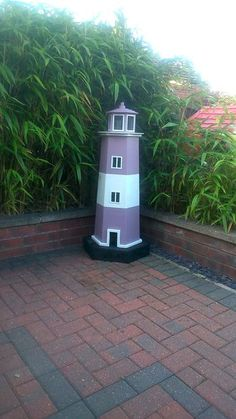 Picture of How To Build A garden Lighthouse Out Of Pallets