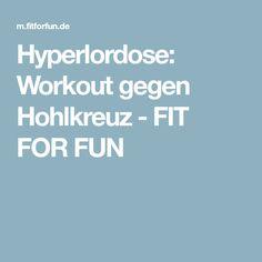Hyperlordose: Workout gegen Hohlkreuz - FIT FOR FUN