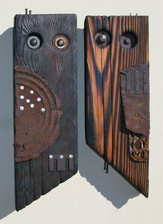 Greg Corman's Scrap Owls. zenindustrial.blogspot.com
