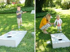 """""""London Calling"""" 2nd birthday party - beanbag toss"""