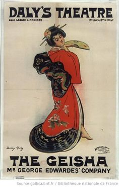 Daly's Theatre: the Geisha by Dudley Hardy, 1890. National Library of France, Public Domain