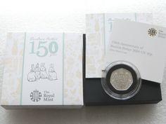 2016 Beatrix Potter 150th Anniversary 50p Fifty Pence Silver Proof Coin Box Coa