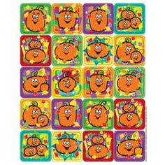 """Pumpkins - Theme Stickers. 120 stickers per package, measuring 1"""" x 1"""". $1.35"""