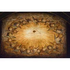 Il Gesu ceiling detail Church of the Gesu Rome Lazio Italy Canvas Art - Panoramic Images (36 x 24)