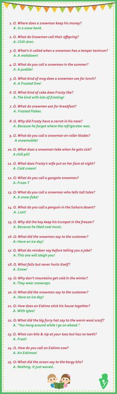 25 Funny Winter (Snowman) Jokes For Kids - Jokes - Funny memes - - Snowman & Winter Jokes The post 25 Funny Winter (Snowman) Jokes For Kids appeared first on Gag Dad. Funny Jokes For Kids, Silly Jokes, Dad Jokes, Christmas Humor, Christmas Fun, Holiday Fun, Christmas Jokes For Kids, Holiday Movies, Office Christmas