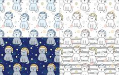 60 Patterns with cat. Print for kids by IrynaBoiko on @creativemarket