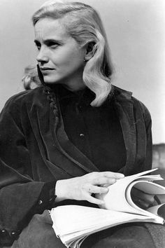 Eva Marie Saint on the set of On The Waterfront (1954)