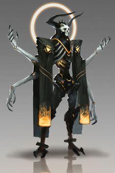 Karanlık , The Dark Vicar Monster Concept Art, Robot Concept Art, Creature Concept Art, Fantasy Monster, Monster Art, Creature Design, Fantasy Character Design, Character Design Inspiration, Character Concept