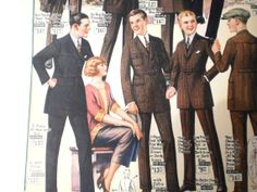 Men's country and day suiting advertisement, dated to 1924.
