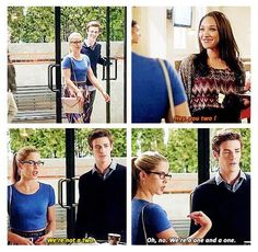 "The Flash - Iris, Felicity and Barry #1.4 #Season1, fun, ""not a two"""