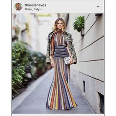 My kind of dress ❤️💕❤️💕❤️ . . . . #mfw #mfwss16 #missoni #missonihome #thassianaves #thassiastyle #thassiamfw #italy #milano #milão #bestdressever #beatifull #bella #fashion #travel #traveller #style #elegance