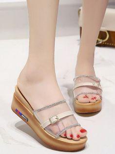 acd9e6280ff5 Clear Platform Slide Sandals. Sandals PlatformGladiator SandalsSlide SandalsFlat  SandalsWomen SandalsOnline Fashion StoresCheap WholesaleTrendy ...
