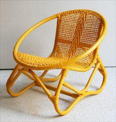 Rattan Armchair, Wooden Furniture, Cute Kids, Wicker, Accent Chairs, Yellow, Beach House, Arch, Bohemian