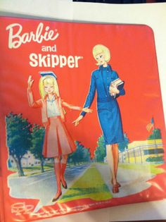 Extremely Rare Vintage Barbie and Skipper binder~1965